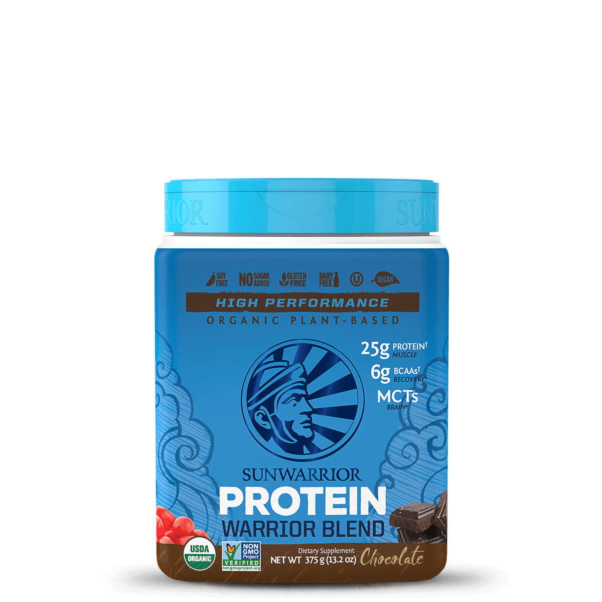 Supplements & Vitamins,Gluten Free,Dairy Free,Vegan,Mandy's Grocery List - Sun Warrior - Warrior Blend Protein (chocolate), 375g