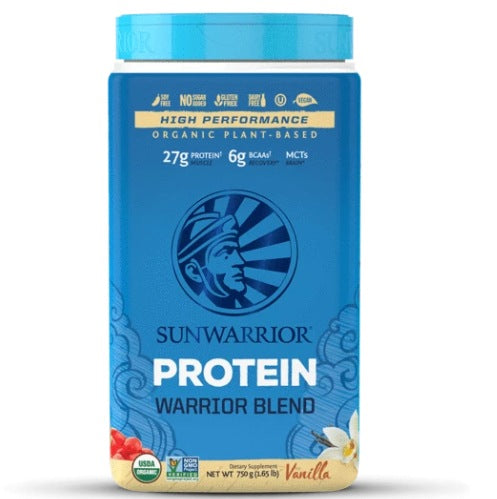 Supplements & Vitamins,Gluten Free,Dairy Free,Vegan,Mandy's Grocery List - Sun Warrior - Warrior Blend Protein (vanilla), 750g