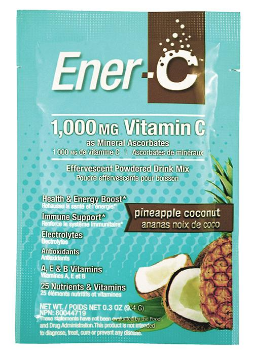 Supplements & Vitamins,Gluten Free,Dairy Free,Vegan,Vegetarian,Non GMO - Ener-C - Pineapple Coconut, 1 Sachet