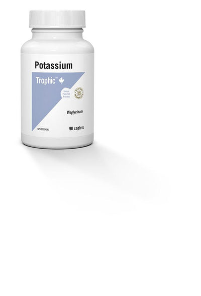Supplements & Vitamins,Gluten Free,Dairy Free,Vegan,Vegetarian,Wheat Free - Trophic - Potassium, 90 Caps