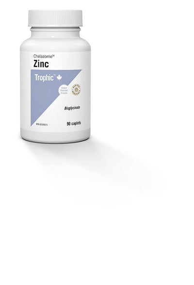 Supplements & Vitamins,Gluten Free,Dairy Free,Vegan,Vegetarian,Wheat Free - Trophic - Zinc (Chelazome), 90 Caps