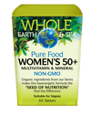 Supplements & Vitamins,Gluten Free,Non GMO - Whole Earth & Sea - Women's 50+ Multivitamin & Mineral, 60 Tabs