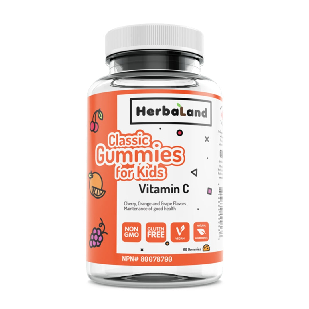 Supplements & Vitamins - Herbaland - Classic Gummies For Kids, Vitamin C, 60 Count