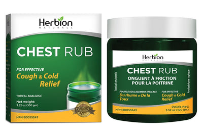 Supplements & Vitamins - Herbion - All Natural Chest Rub, 100g