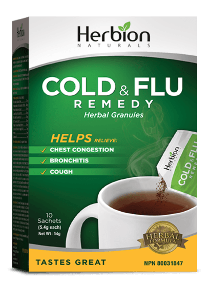 Supplements & Vitamins - Herbion - Cold & Flu Remedy Granules, 10 Packets