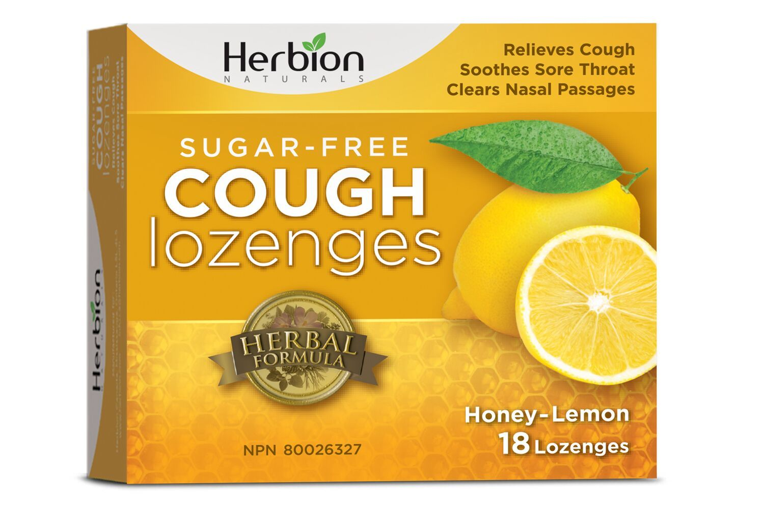 Supplements & Vitamins - Herbion - Sugar-Free Honey Lemon Lozenge, 18 Lozenges