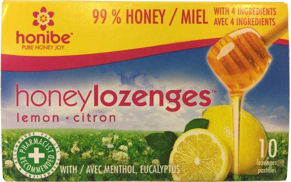 Supplements & Vitamins - Honibe - Honey & Lemon Lozenges, 10 PACK