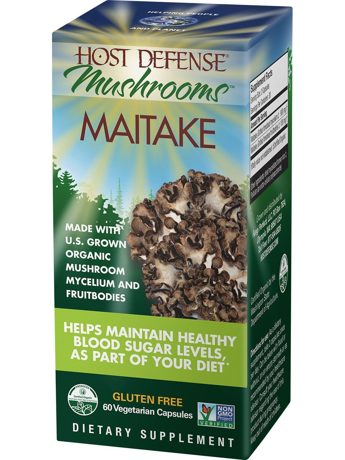 Supplements & Vitamins - Host Defense - Maitake, 60 Caps
