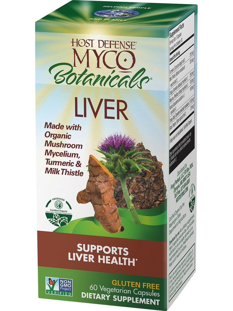 Supplements & Vitamins - Host Defense - MycoBotanicals Liver, 60 CAPS