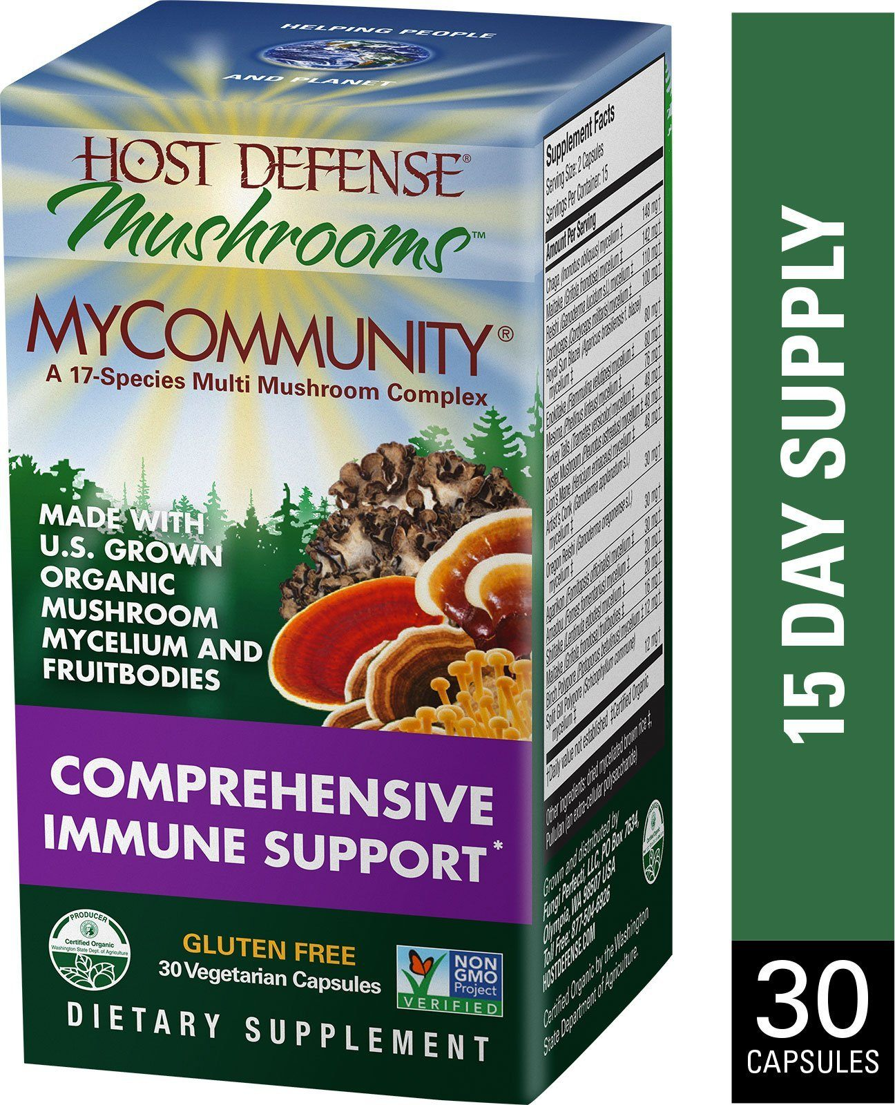 Supplements & Vitamins - Host Defense - Mycommunity, 30 Caps