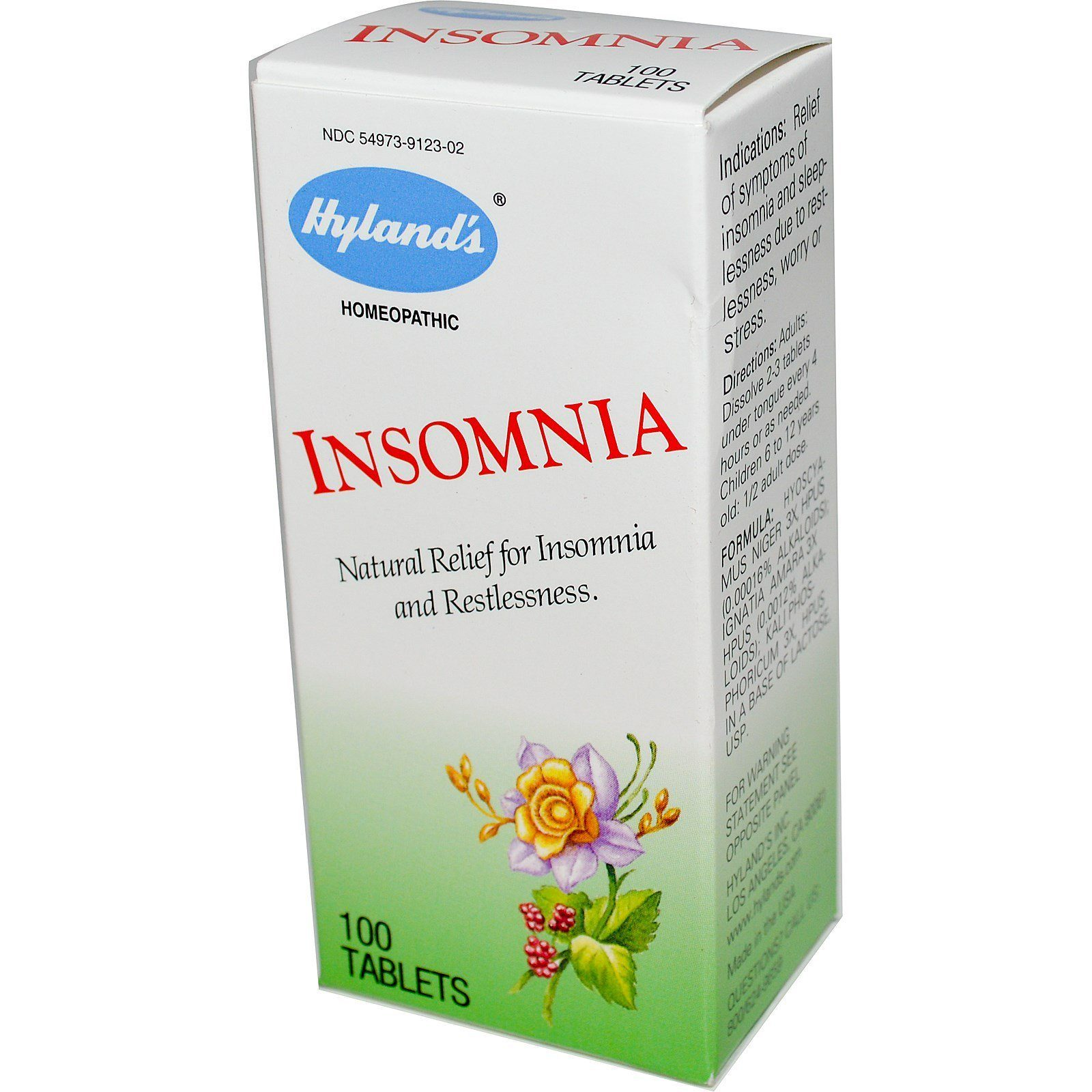 Supplements & Vitamins - Hyland's - Insomnia, 100 Tabs