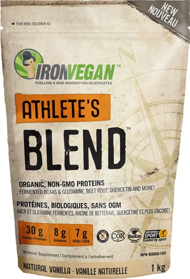 Supplements & Vitamins - Iron Vegan - Athletes Blend Vanilla, 1kg