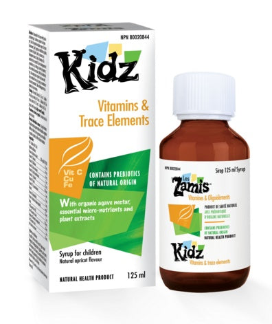 Supplements & Vitamins - Kidz - Vitamins & Trace Elements, 125mL