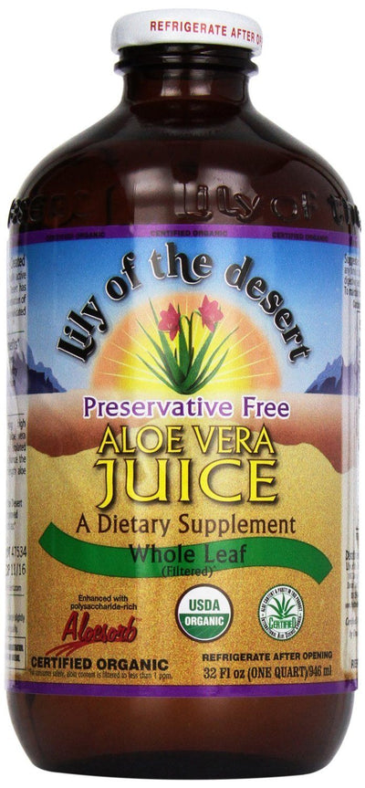 Supplements & Vitamins - Lily Of The Desert - Preservative Free Inner Fillet Aloe Juice -946ml