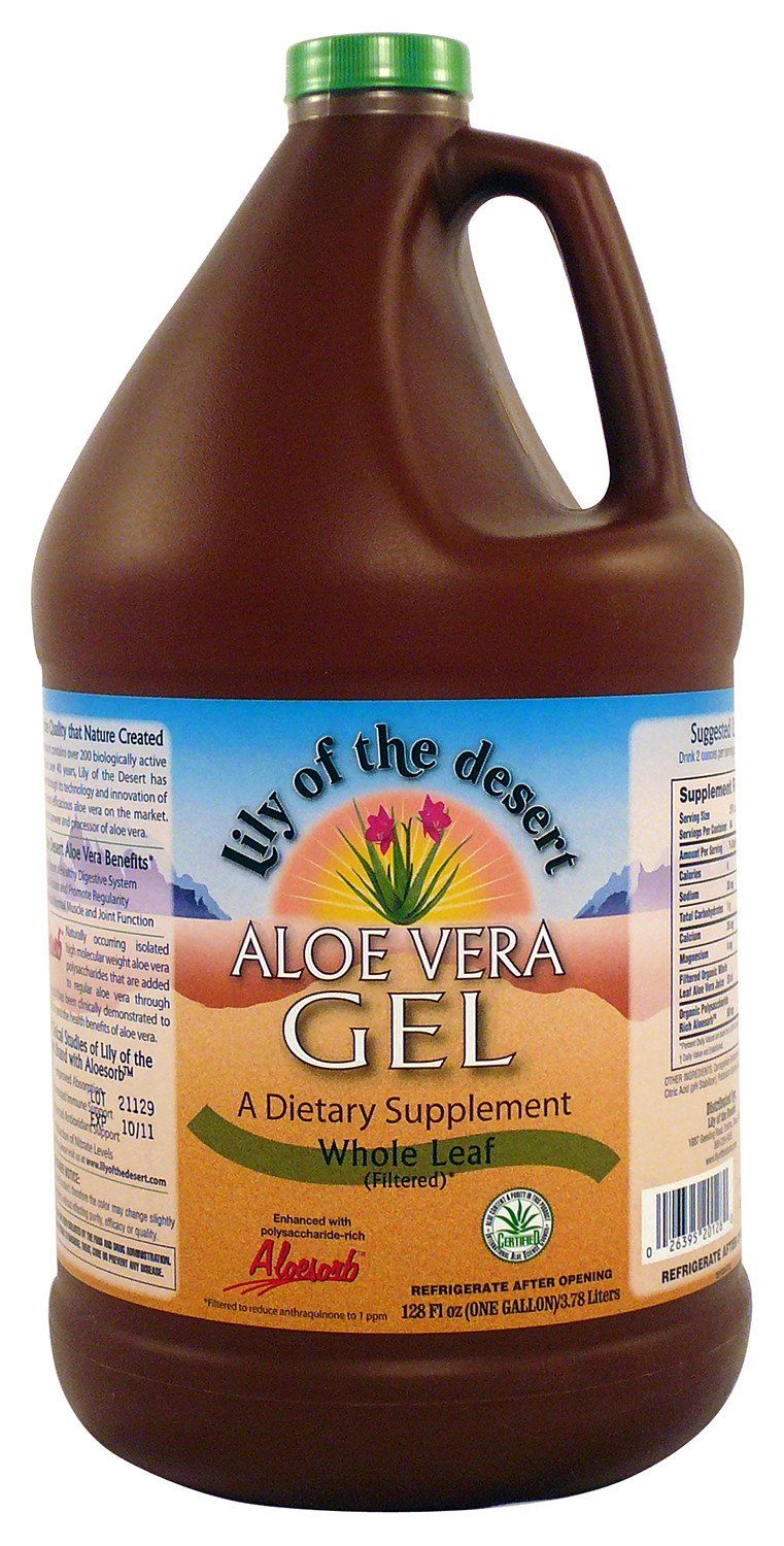 Supplements & Vitamins - Lily Of The Desert - Whole Leaf Aloe Vera Gel, 3.78L