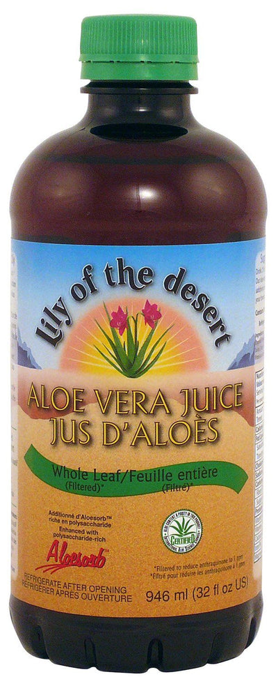 Supplements & Vitamins - Lily Of The Desert - Whole Leaf Aloe Vera Juice, 946mL