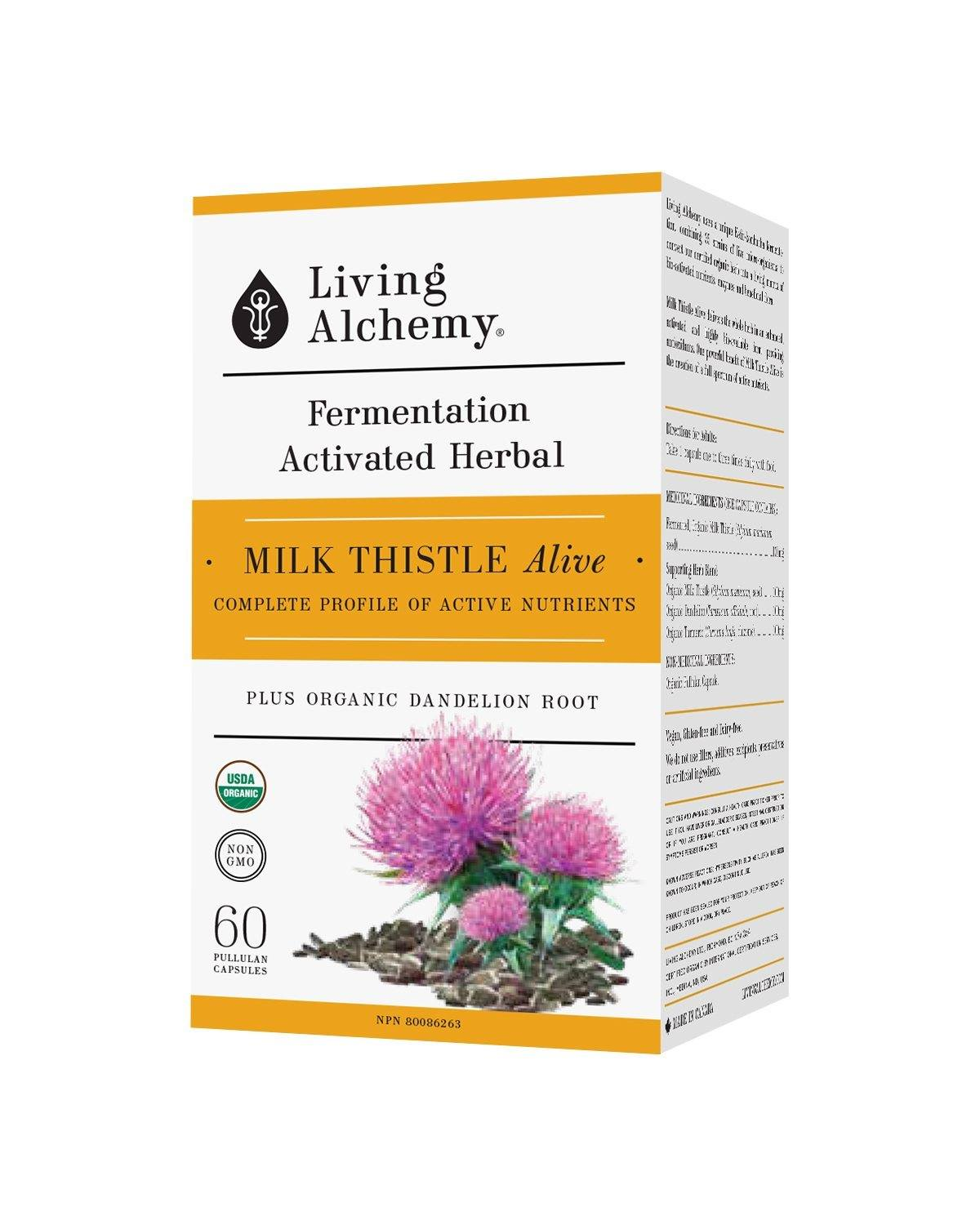 Supplements & Vitamins - Living Alchemy - Milk Thistle Alive, 60 Caps