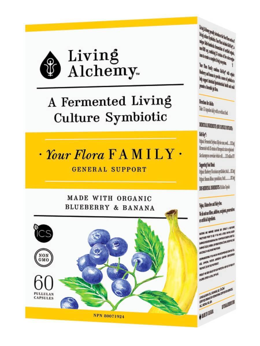Supplements & Vitamins - Living Alchemy - Your Flora Family, 60 Caps
