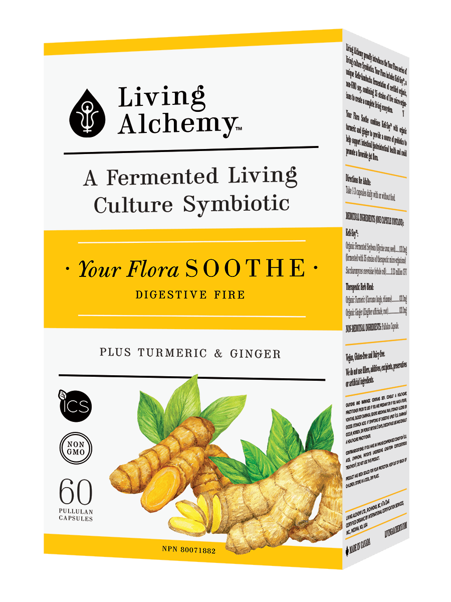 Supplements & Vitamins - Living Alchemy - Your Flora Soothe, 60 Caps