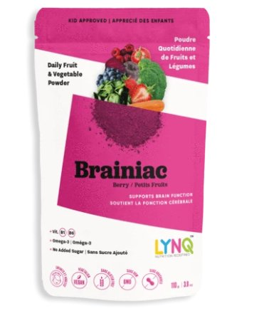 Supplements & Vitamins - LYNQ - Brainiac Blend - Berry, 110g