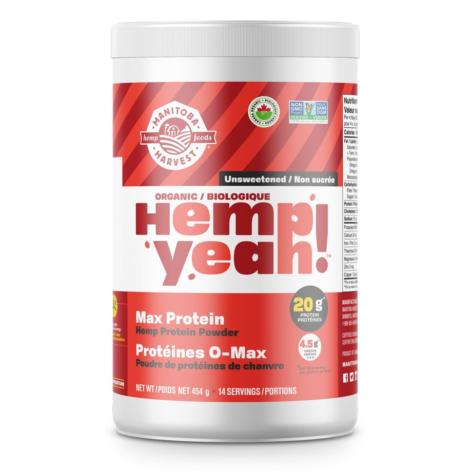 Supplements & Vitamins - Manitoba Harvest - Hemp Yeah! Max Protein Powder, 454g
