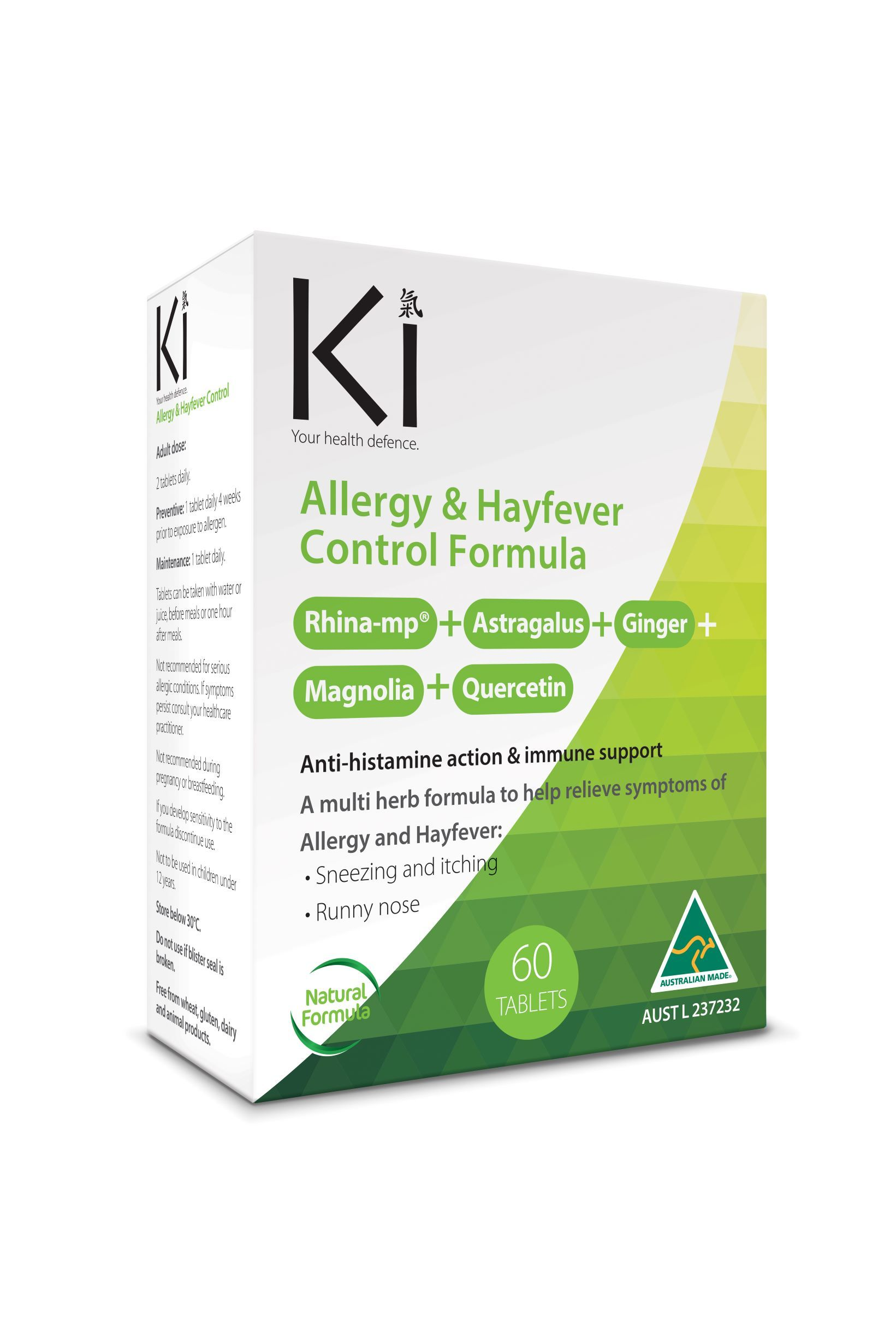 Supplements & Vitamins - Martin & Pleasance - Ki Hayfever Control, 60 Tabs