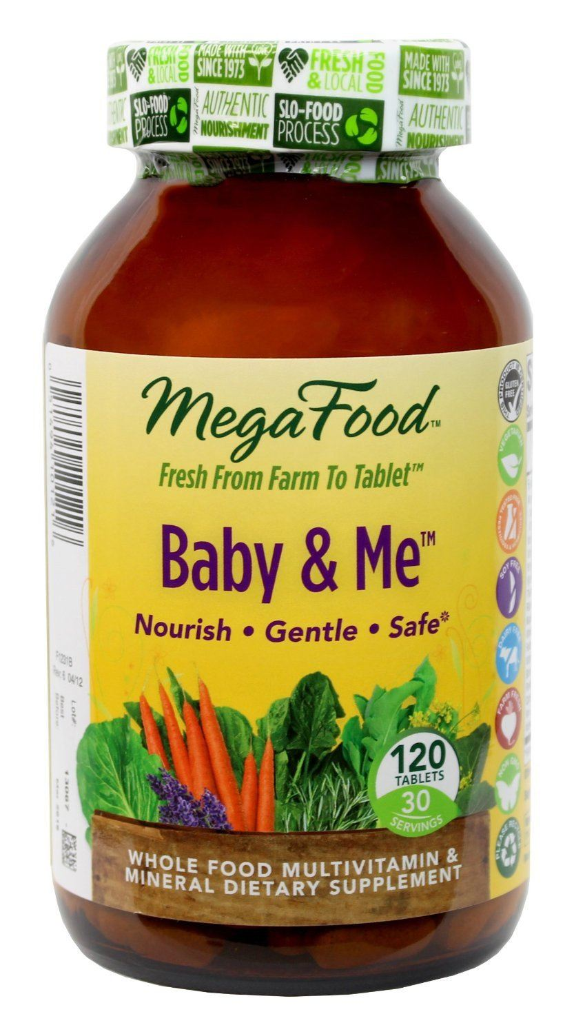 Supplements & Vitamins - Mega Food - Baby & Me, 120 Tablets