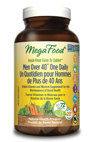 Supplements & Vitamins - Mega Food - Men Over 40 One Daily - 72 Tabs