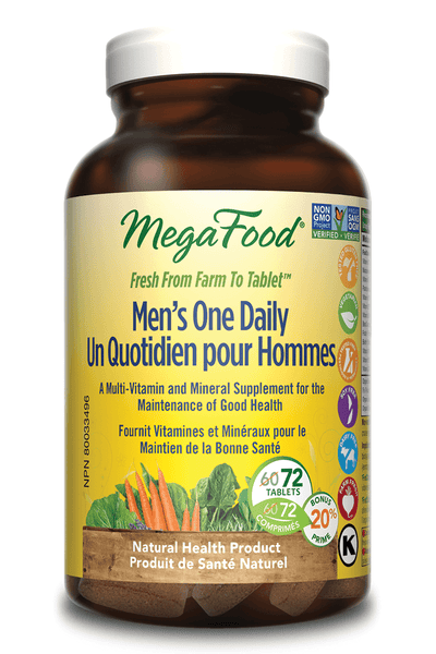 Supplements & Vitamins - Mega Food - Men's One Daily, 72 Tablets