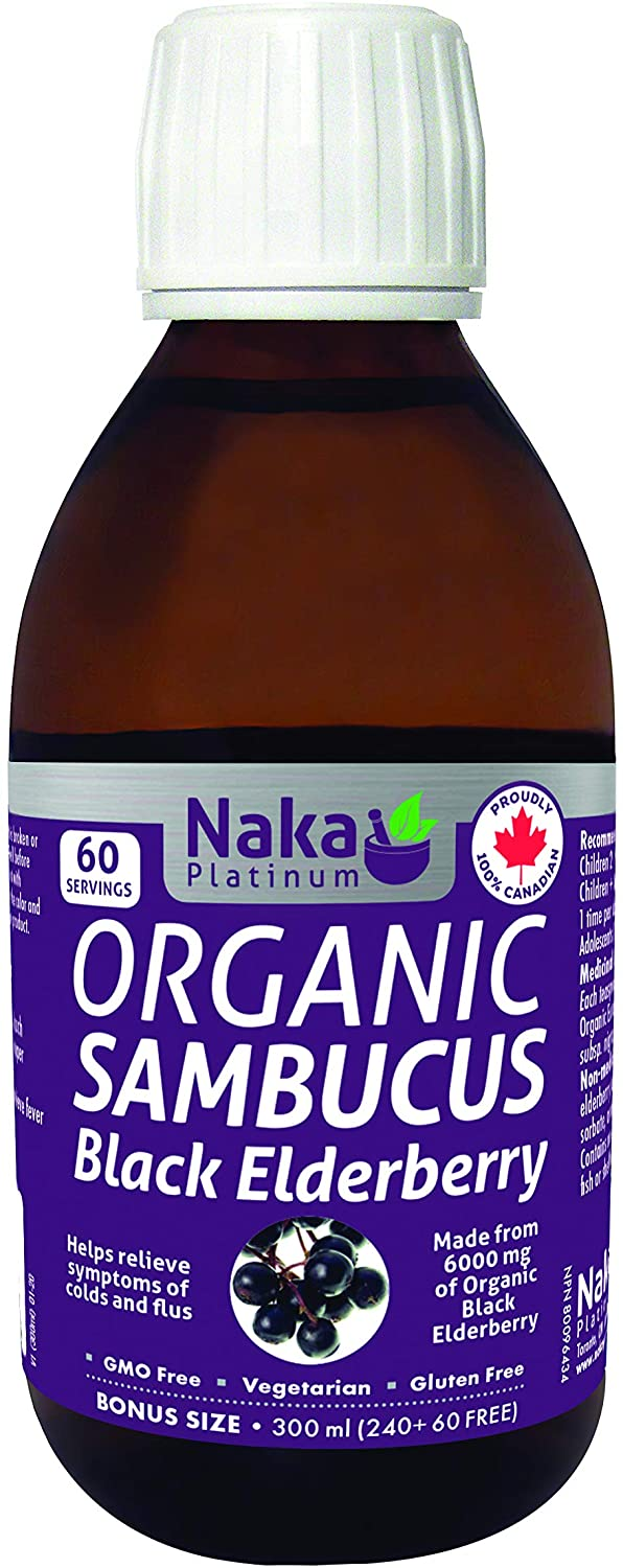 Supplements & Vitamins - Naka - Organic Black Elderberry Syrup, 300ml