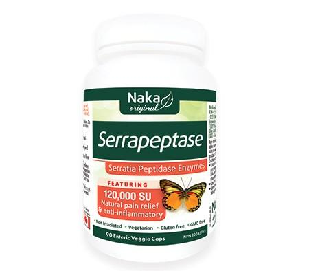 Supplements & Vitamins - Naka - Serrapeptase - 90 Vcaps.