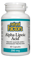 Supplements & Vitamins - Natural Factors - Alpha-Lipoic Acid - 200mg, 60 Capsules