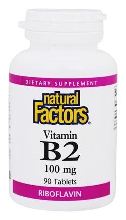 Supplements & Vitamins - Natural Factors - B-2 100mg - 90 Tabs