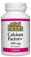 Supplements & Vitamins - Natural Factors - Calcium Factor+® 350 Mg, 90 Tablets