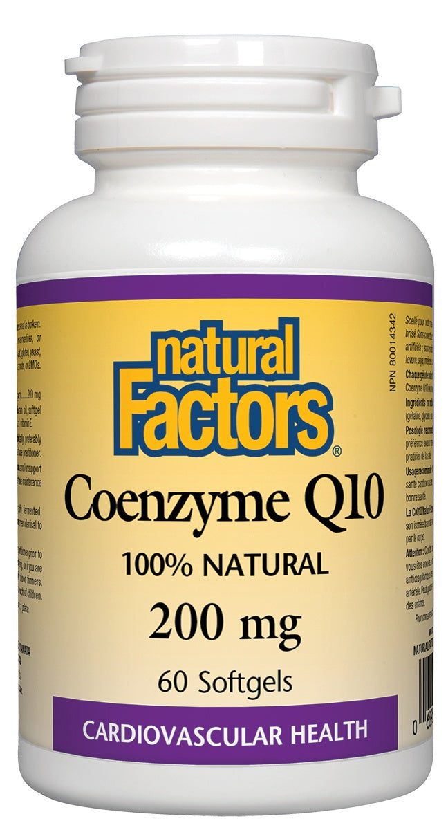 Supplements & Vitamins - Natural Factors - Coenzyme Q10 - 200mg -60 Softgels