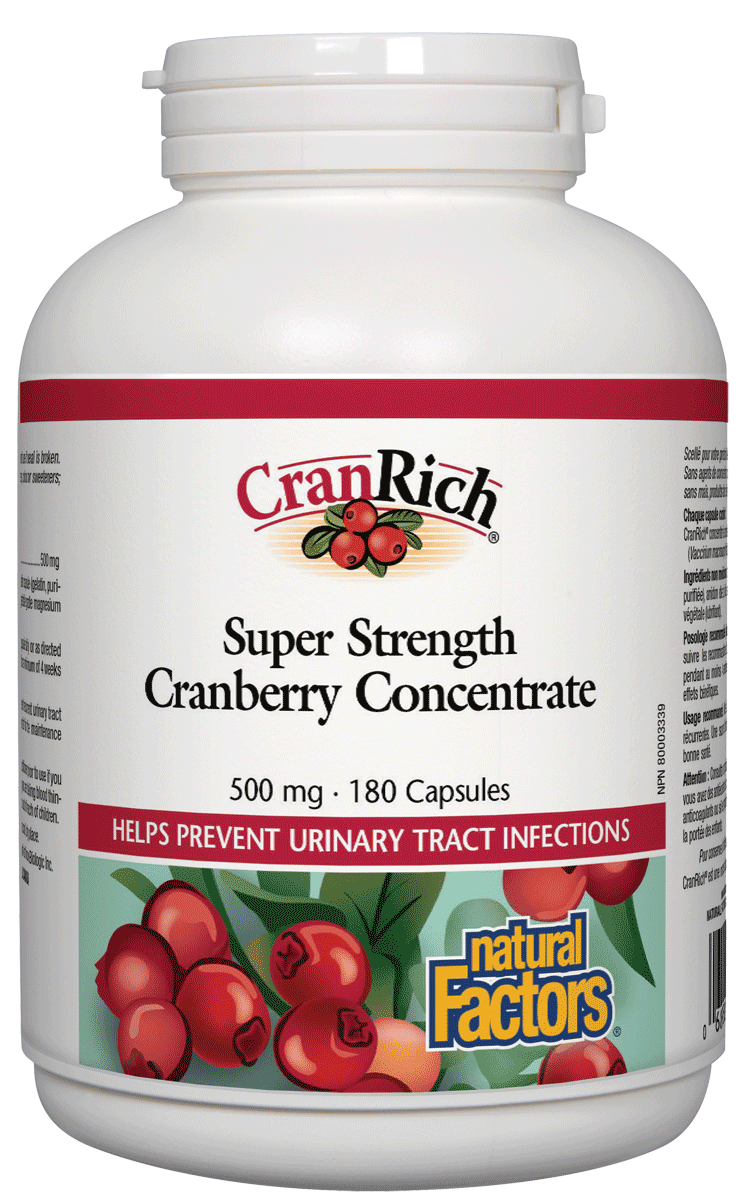 Supplements & Vitamins - Natural Factors - CranRich Super -180 Capsules