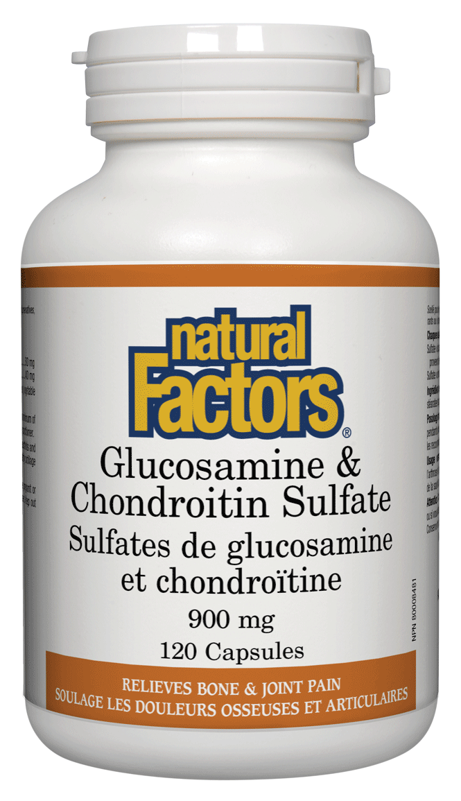Supplements & Vitamins - Natural Factors - Glucosamine & Chondroitin Sulfate -120 Capsules