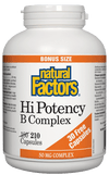 Supplements & Vitamins - Natural Factors - High Potency B Complex - Bonus, 210 Tablets