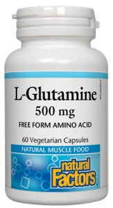 Supplements & Vitamins - Natural Factors - L-Glutamine, 60 Capsules