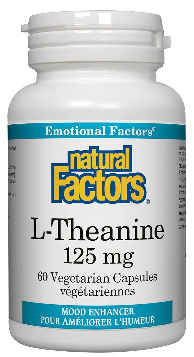 Supplements & Vitamins - Natural Factors - L-Theanine, 60 Capsules