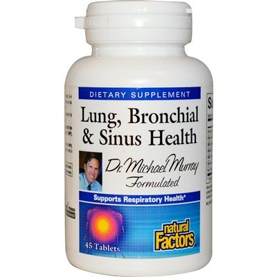 Supplements & Vitamins - Natural Factors - Lung Bronchial & Sinus Health - 45tabs