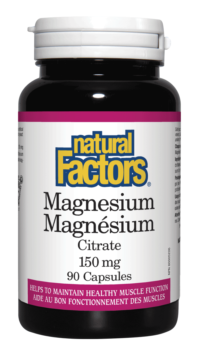 Supplements & Vitamins - Natural Factors - Magnesium, 90 Capsules