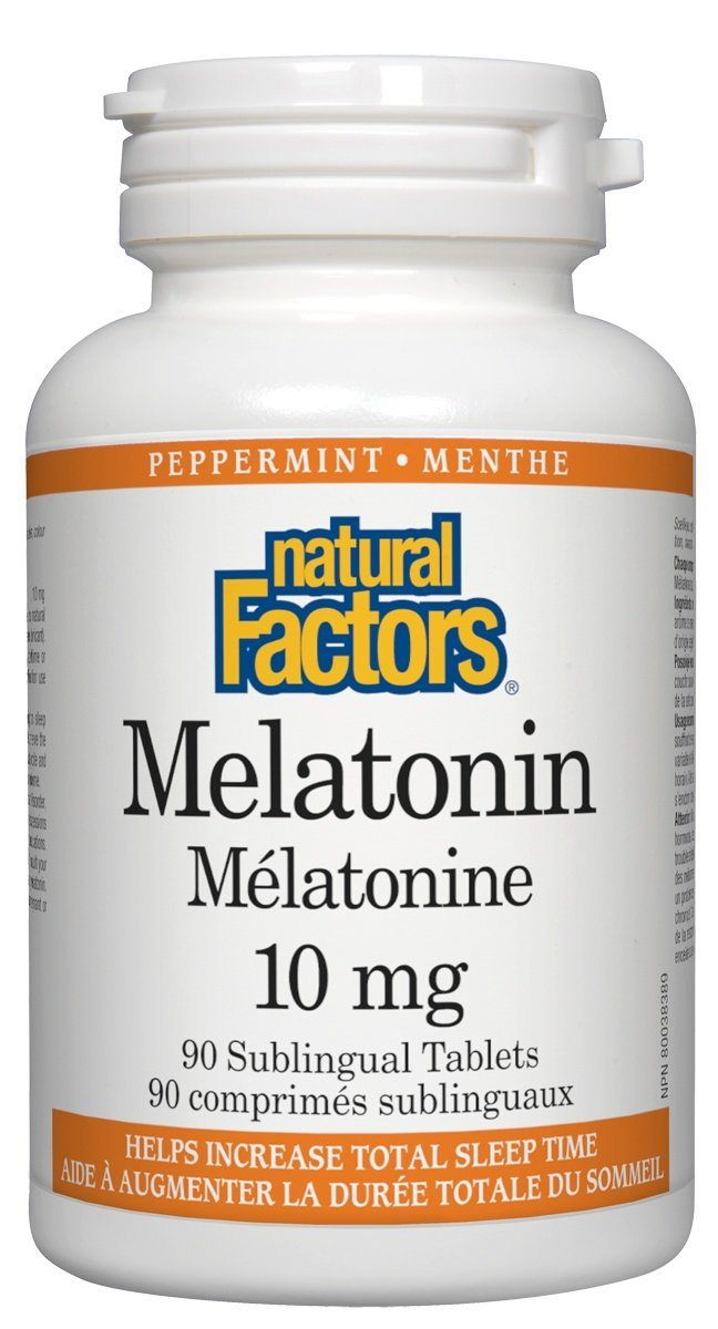 Supplements & Vitamins - Natural Factors - Melatonin 10mg, 90 Tablets