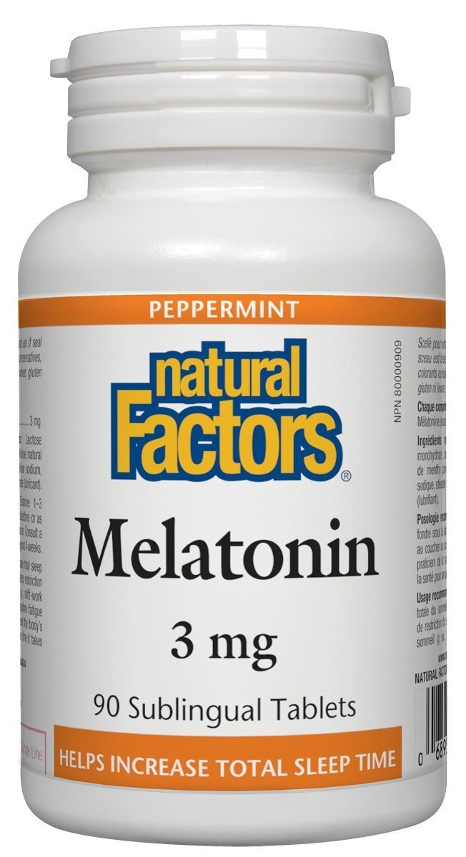 Supplements & Vitamins - Natural Factors - Melatonin 3mg, 90 Tablets