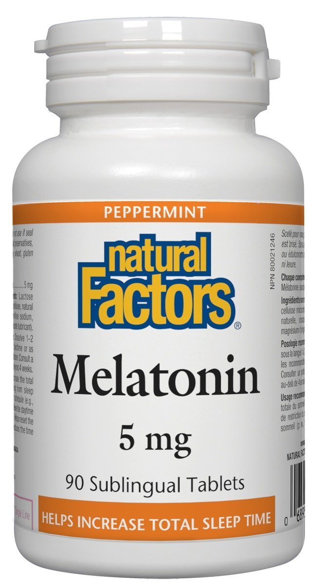 Supplements & Vitamins - Natural Factors - Melatonin 5mg, 90 Tablets