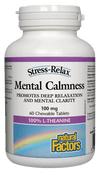 Supplements & Vitamins - Natural Factors - Mental Calmness, 60 Chewable Tablets