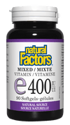 Supplements & Vitamins - Natural Factors - Mixed E 400 IU, 90 Capsules