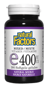 Supplements & Vitamins - Natural Factors - Mixed E 400iu, 180 Softgels