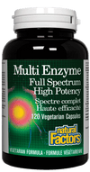 Supplements & Vitamins - Natural Factors - Multi Enzyme, 120 Capsules