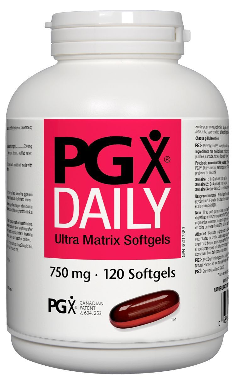 Supplements & Vitamins - Natural Factors - PGX Daily, 120 Softgels